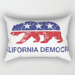 California Political Democrat Bear Distressed Rectangular Pillow