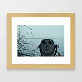 Faces and places Framed Art Print
