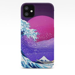 Synthwave Space: The Great Wave off Kanagawa #2 iPhone Case