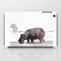 hippo iPad Cases featuring HIPPO  by Patricia de Cos