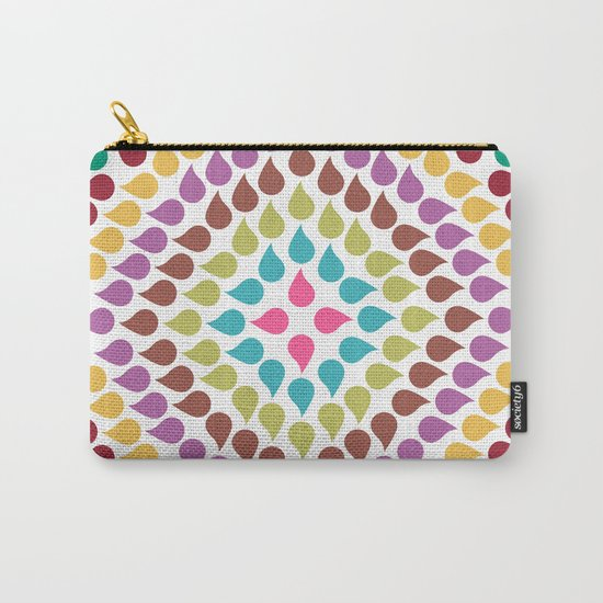 Seamless Colorful Raindrops IV Carry-All Pouch