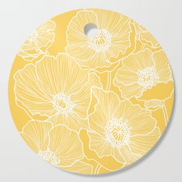 Sunshine Yellow Poppies Cutting Board
