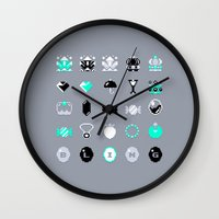 8 bit Wall Clocks featuring 8-Bit Bling by Spires