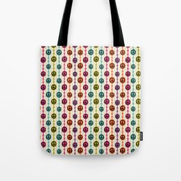 Peace Signs Hippie Beaded Curtain Tote Bag