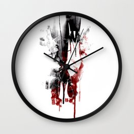 Black and Red Heels Wall Clock