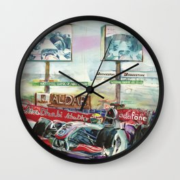 McLaren on a charge Wall Clock