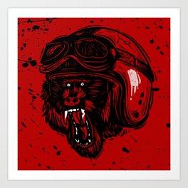 Baboon Mood Art Print
