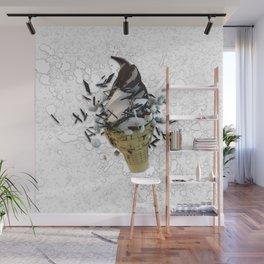 choco dip ice cream cone Wall Mural