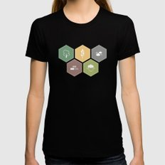 Economics SMALL Black Womens Fitted Tee