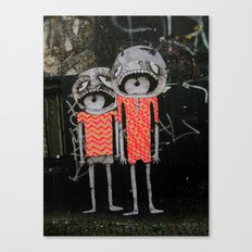 street art couple Canvas Print