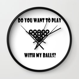Funny Billiards Cool Quote Wall Clock