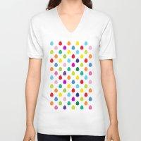 mini V-neck T-shirts featuring Mini Eggs by Alex Morgan