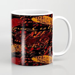 Kiss Me, Miss Me Red Coffee Mug