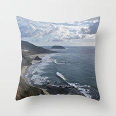 Coastal Cliff Throw Pillow