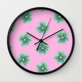 Geo Spring Flowers 03 Wall Clock