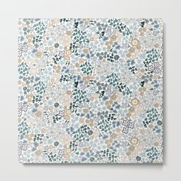 478-Cute small scale ditsy pattern white Metal Print