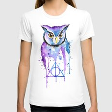 Hedwig SMALL Womens Fitted Tee White