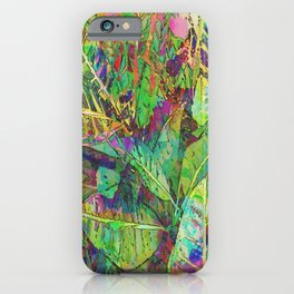 Lush Tropical Greens iPhone Case