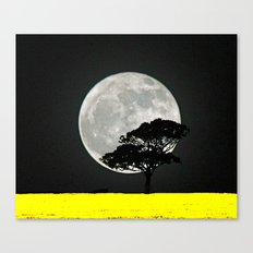 Lone Tree And Moon. Canvas Print