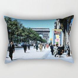 Days Long Past: Paris Rectangular Pillow