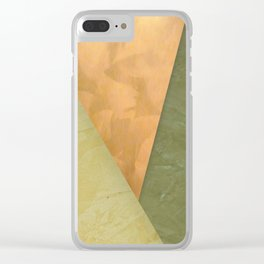 Golden Triangle With Green and Cream Clear iPhone Case