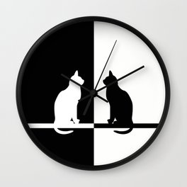Black and White 81 Wall Clock