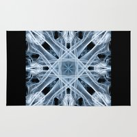 snowflake Area & Throw Rugs featuring Snowflake by Steve Purnell