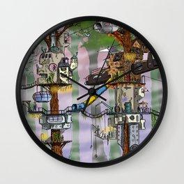 Modern Pixie Kingdom Wall Clock