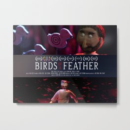 Birds of a Feather: Film Poster Metal Print