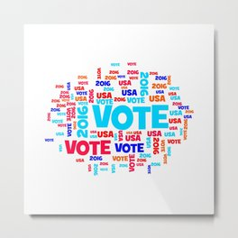 Vote USA 2016 Metal Print