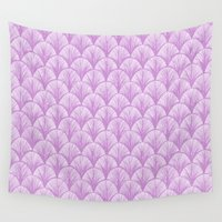 scales Wall Tapestries featuring Orchid Scales by michiko_design