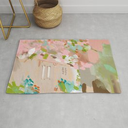 southern europe sun France Italy abstract painting Rug