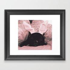 French Bunny Framed Art Print