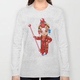 Beijing Opera Character YangPaiFeng Long Sleeve T-shirt