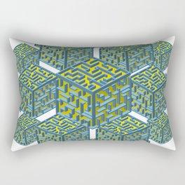 Cubed Mazes Rectangular Pillow