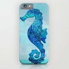 Blue Seahorse Couple Underwater iPhone Case