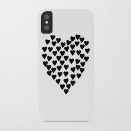 Hearts Heart Black and White iPhone Case