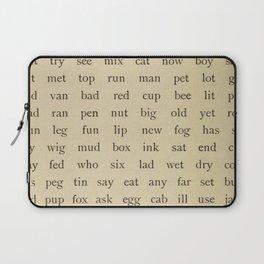Vintage Words Laptop Sleeve