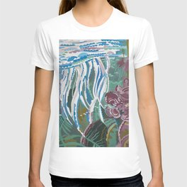 Jellyfish, beautiful water world decorate your home or office and be reminded of the summer T-shirt