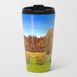 Tree in springtime scenery   landscape photography Travel Mug