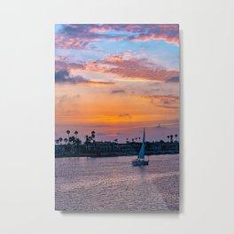 Home Port at Sunset Metal Print
