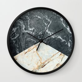Water Meets Marble Wall Clock