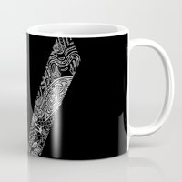 vikings Mugs featuring Black Vikings by Fiorella Modolo