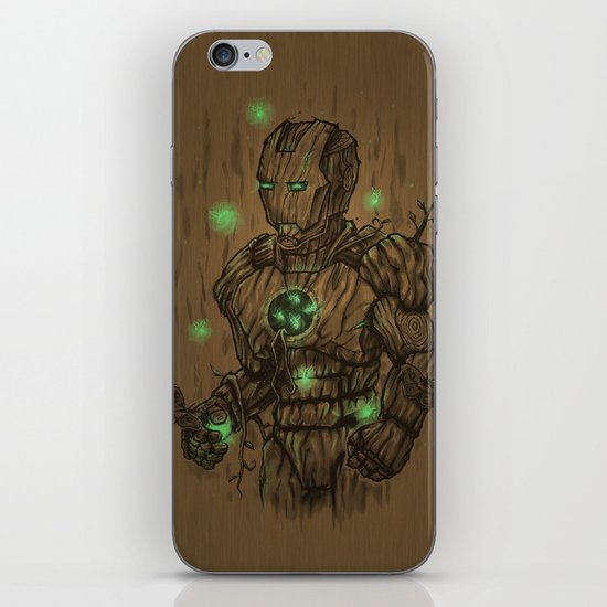 Wooden Man iPhone & iPod Skin
