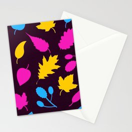 Pansexual Pride Autumn Leaves Pattern Stationery Cards