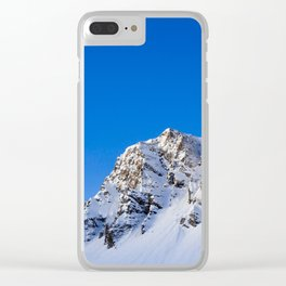 Beautiful Mountain with snow view Clear iPhone Case