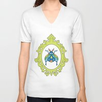 beetle V-neck T-shirts featuring Beetle by Kelly Gogas