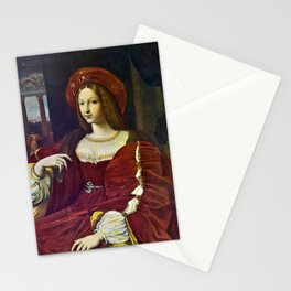 Joanna of Aragon by Raphael Stationery Cards