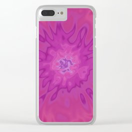 Sunny Rose (Tie Dye) Clear iPhone Case