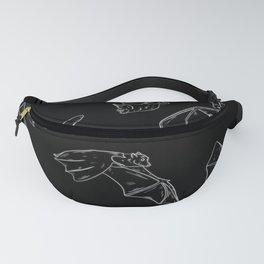 Flying Bats Pattern Fanny Pack